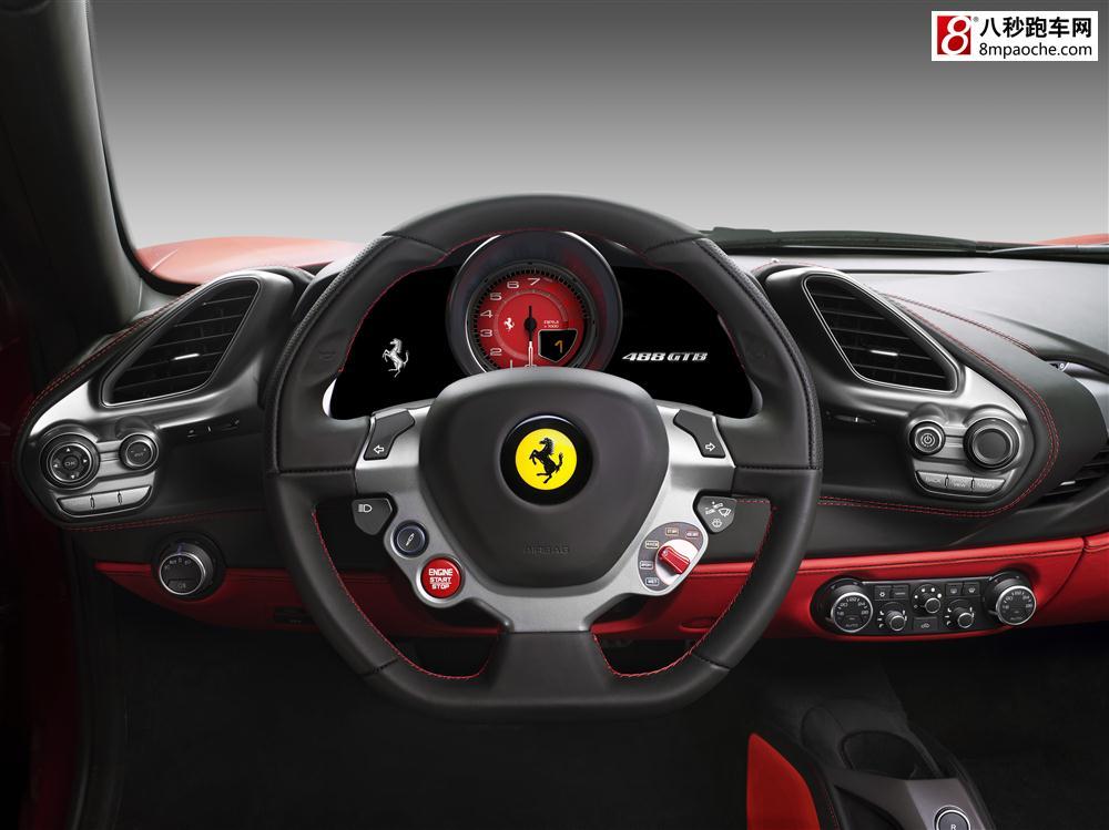 2015日内瓦车展 法拉利全新V8跑车488 GTB全球首发