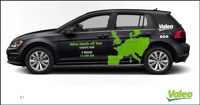继环法、环美及巴黎环城高速成功路试之后,法雷奥Cruise 4U自动驾驶汽车正式启程环欧路试 日前,法雷奥(Valeo)的Cruise4U自动驾驶汽车正式启程,穿越欧洲的核心地带,这也是全球首次环绕欧洲的自动驾驶汽车路试。此次法雷奥环欧路试计划用时5周,行程近13,000公里。在不到一年的时间内,法雷奥Cruise4U自动驾驶汽车已经完成了环法路试、环美路试以及一个月之前的24小时巴黎绕城高速路试,可谓是连战连捷。  法雷奥Cruise4U自动驾驶汽车将从英国北部出发至西班牙南部结束,途径西欧各大主